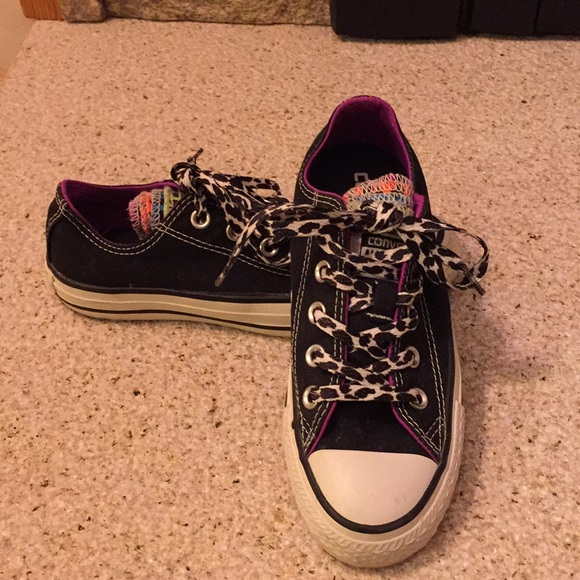 e21c70591576 Converse Shoes - Fun Converse All Star with Multi-Tongues Size 5